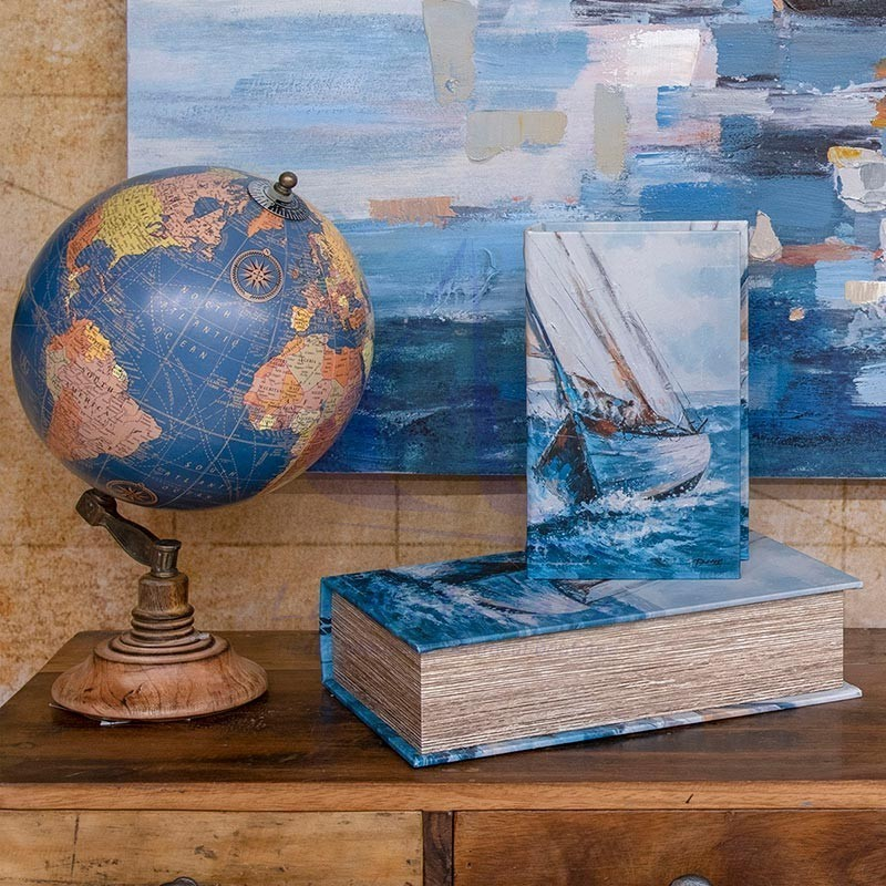 Sailboat print book box 3