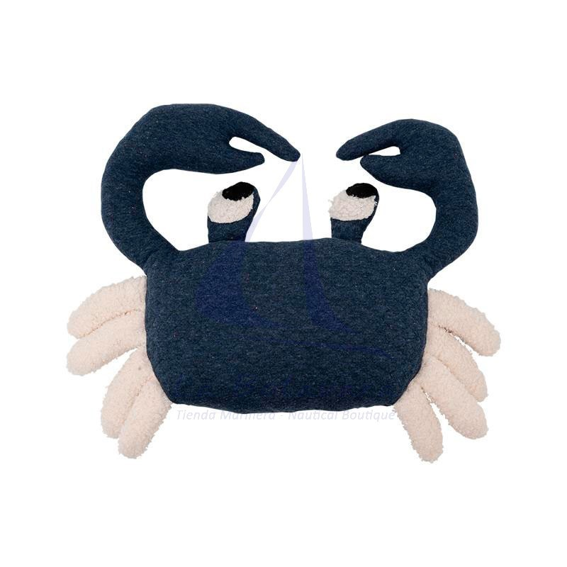 Blue and white crab plush toy