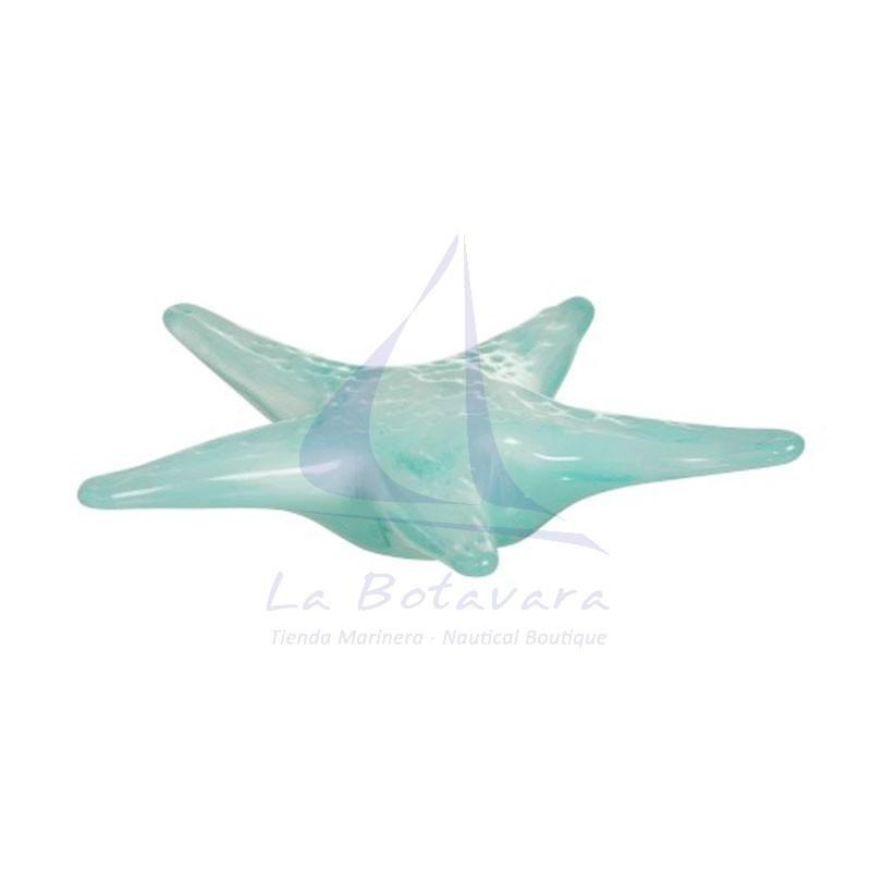 Pisapapeles estrella de mar verde de cristal