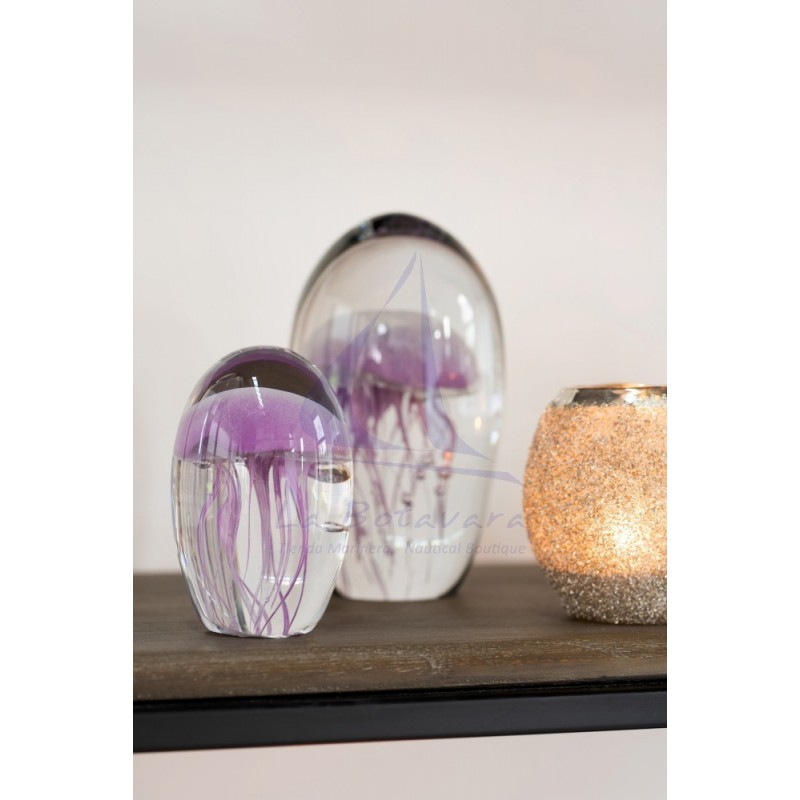 Pisapapeles medusa purpura de cristal 2