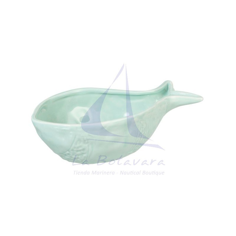 Bowl verde claro con forma de pez