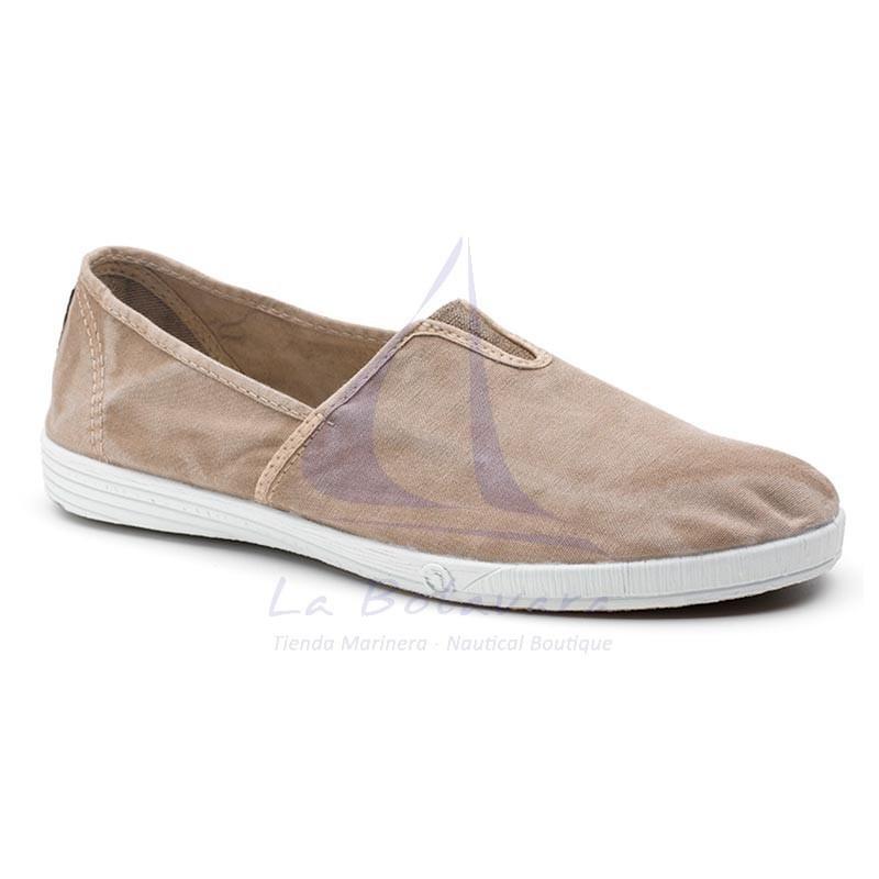 Natural World beige elastic shoe for man