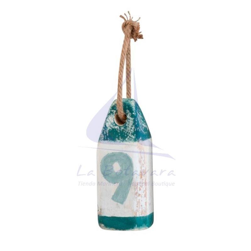 Nº9 decorative wooden nautical buoy 3