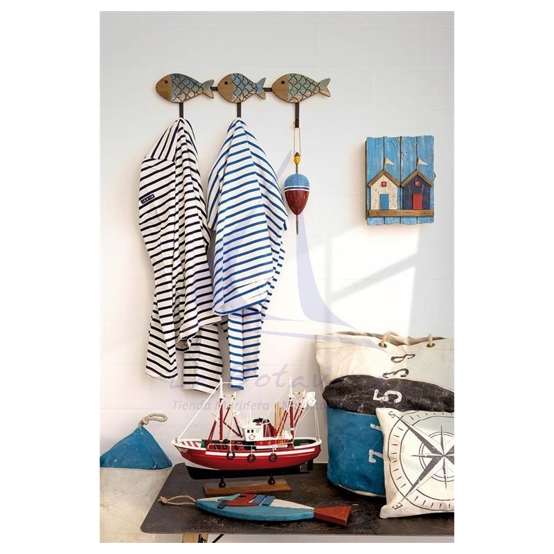 Beach huts keychain cabinet