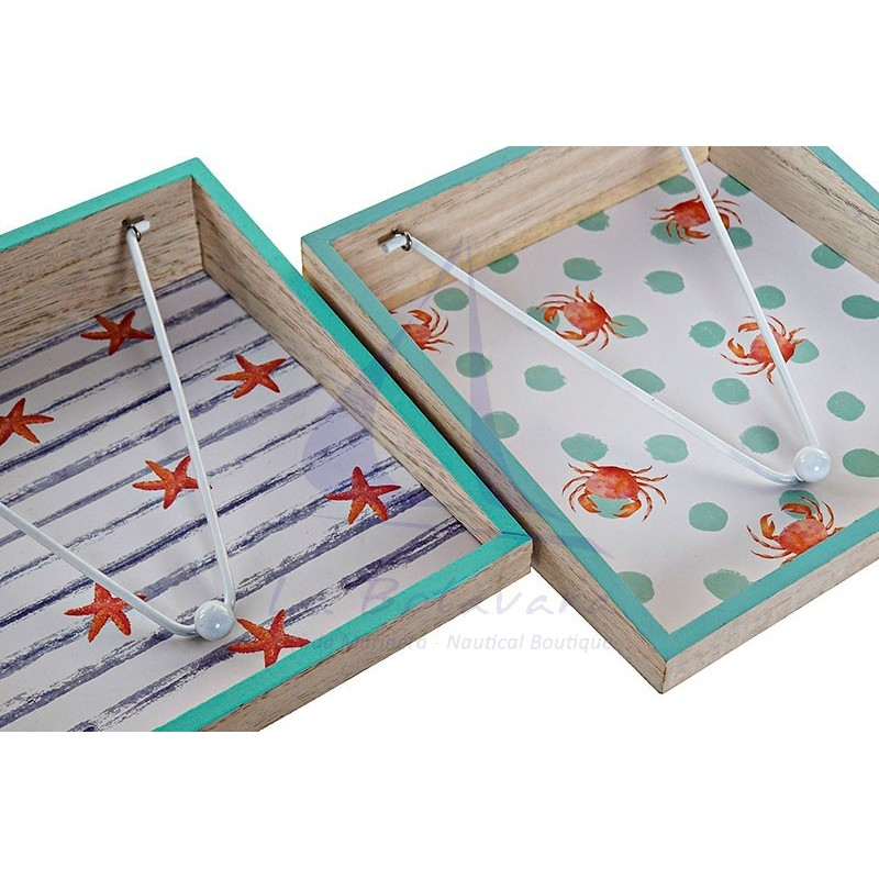 Seaside napkin holder with crabs 2