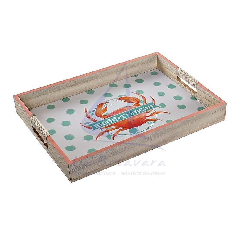 Bandeja marinera con cangrejo