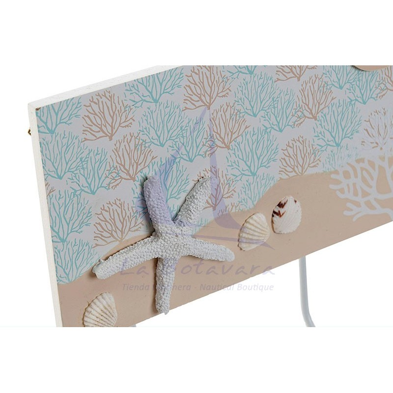 Coral coat rack with 3 hooks 2