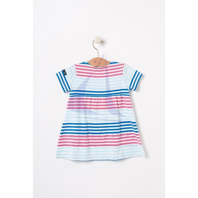 Batela multicolor baby crossed dress 3