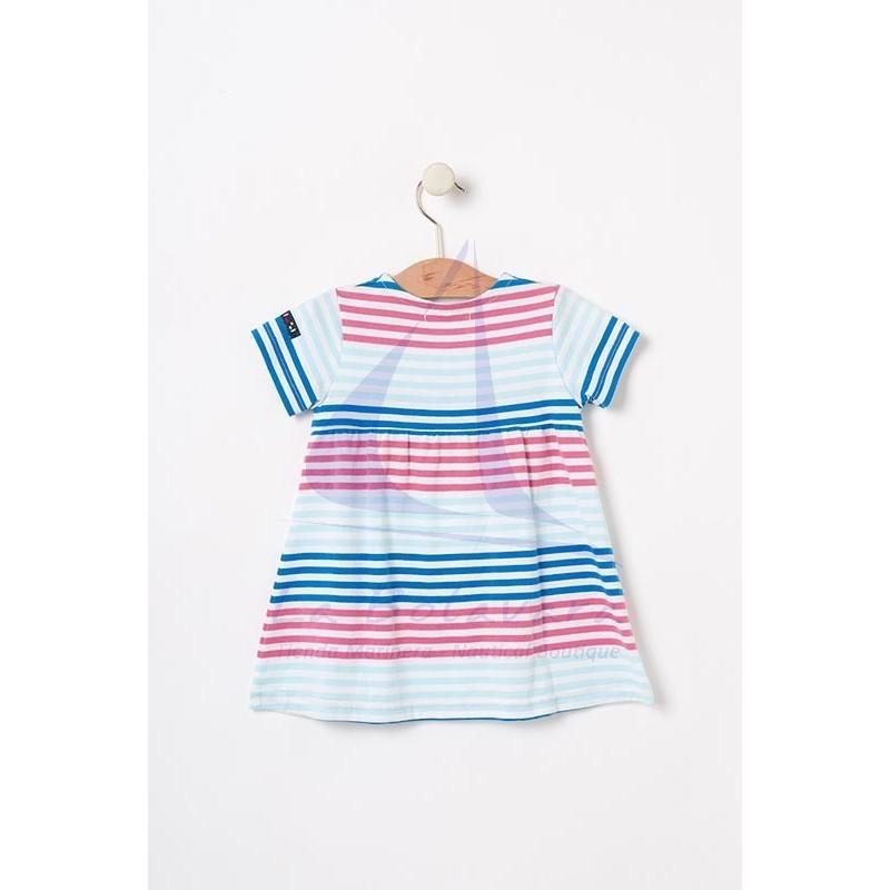 Vestido Batela cruzado de bebe multicolor 3