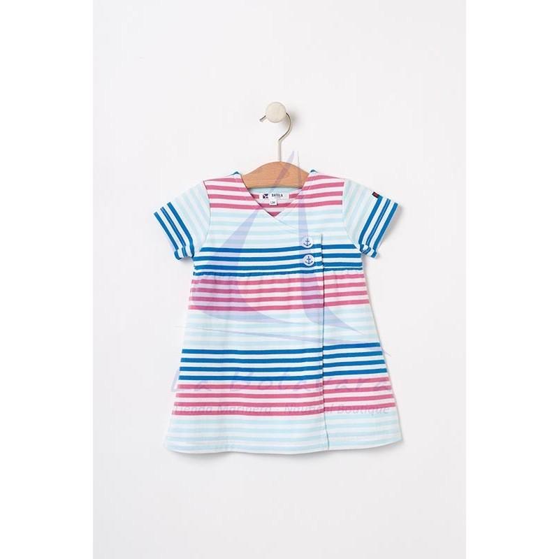 Vestido Batela cruzado de bebe multicolor 2