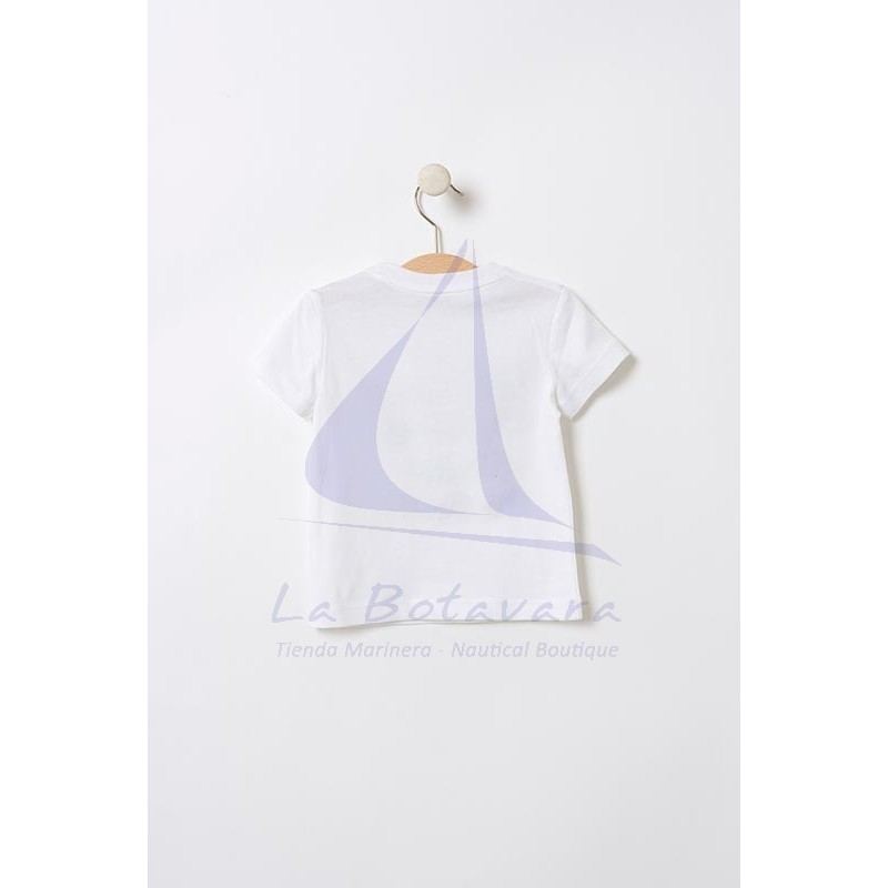 Batela baby t-shirt with colored whales 2
