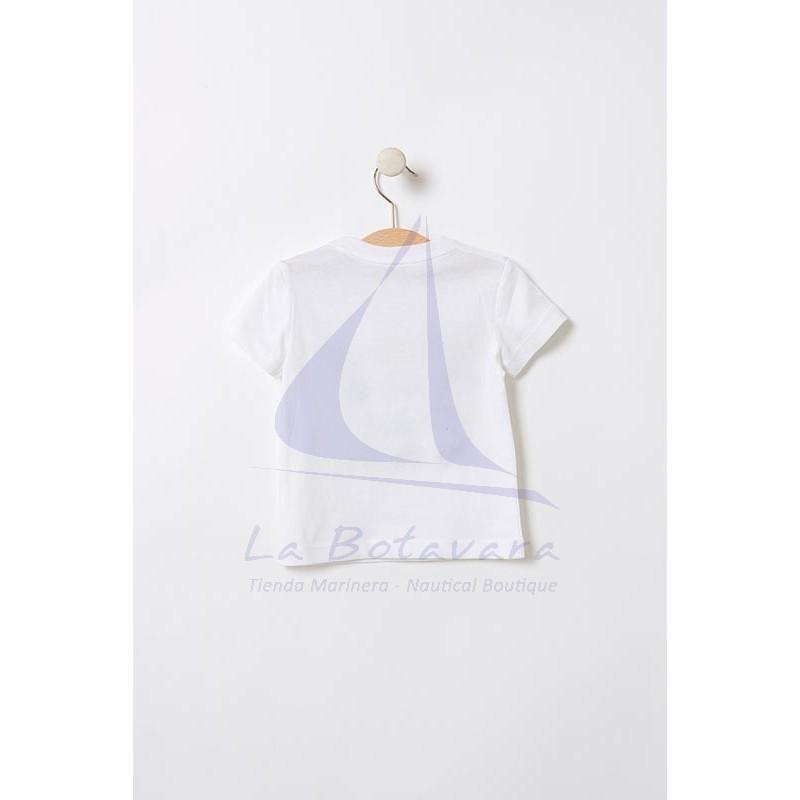 Camiseta Batela de bebe con ballenitas de colores 2