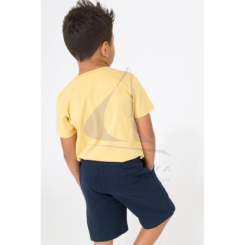 Camiseta Batela de niño amarilla con pulpo 2