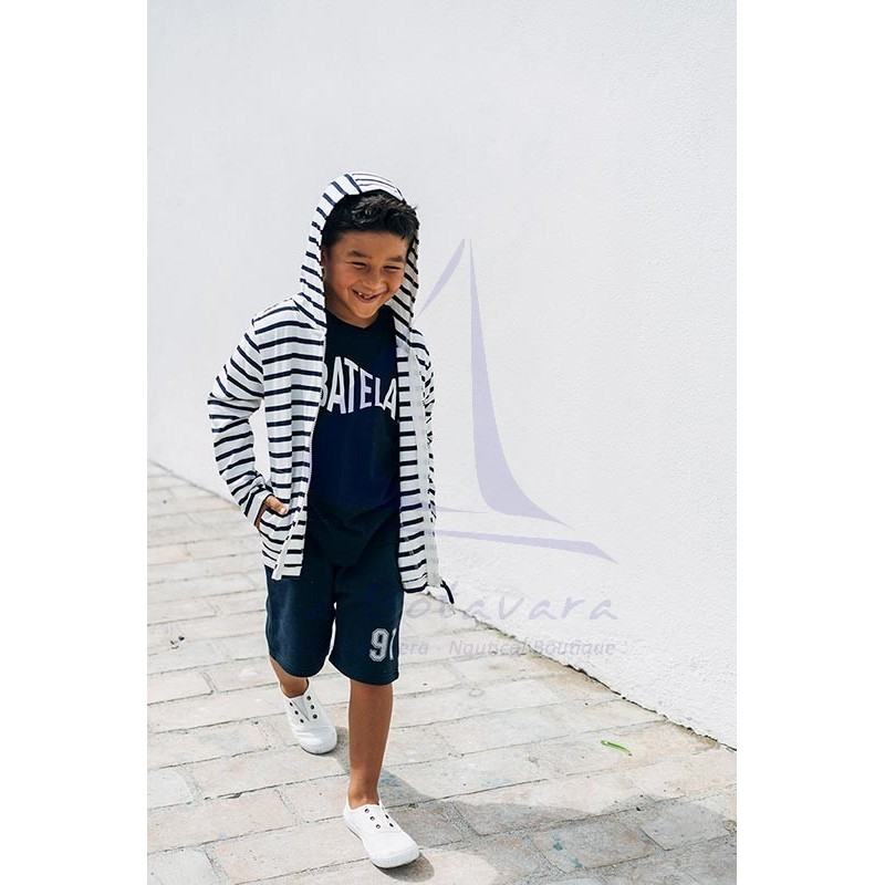 Navy blue Batela t-shirt for boy with fish design 2