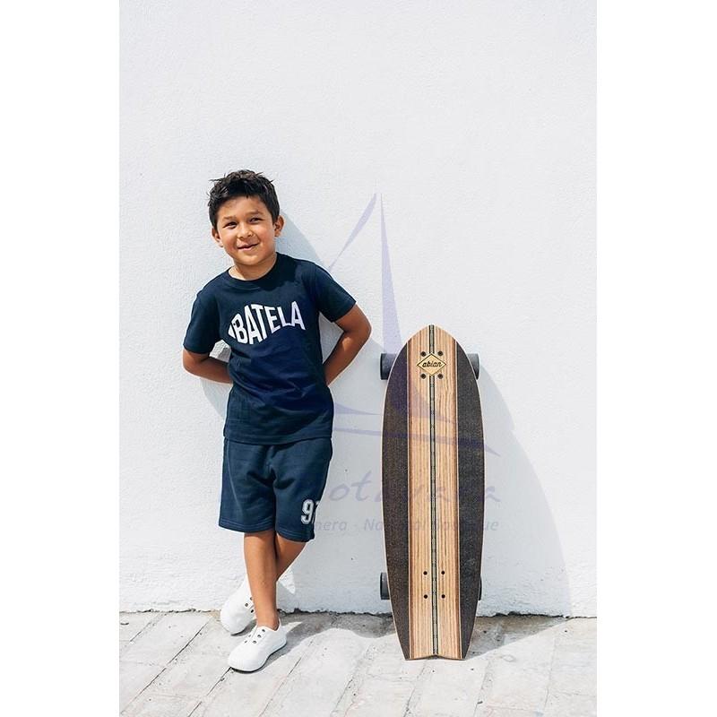 Camiseta Batela de niño azul marino con diseño de pez 4