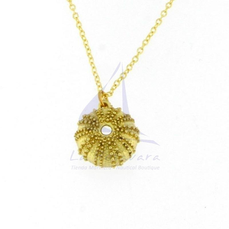 Sea urchin brass pendant 2
