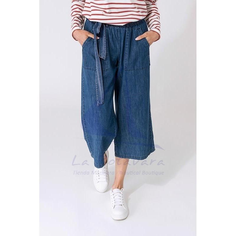 Denim Batela crop trousers for woman