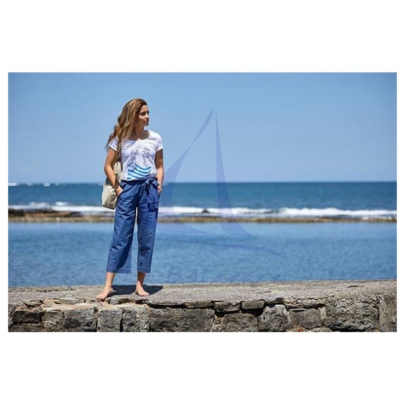 Denim Batela crop trousers for woman 2