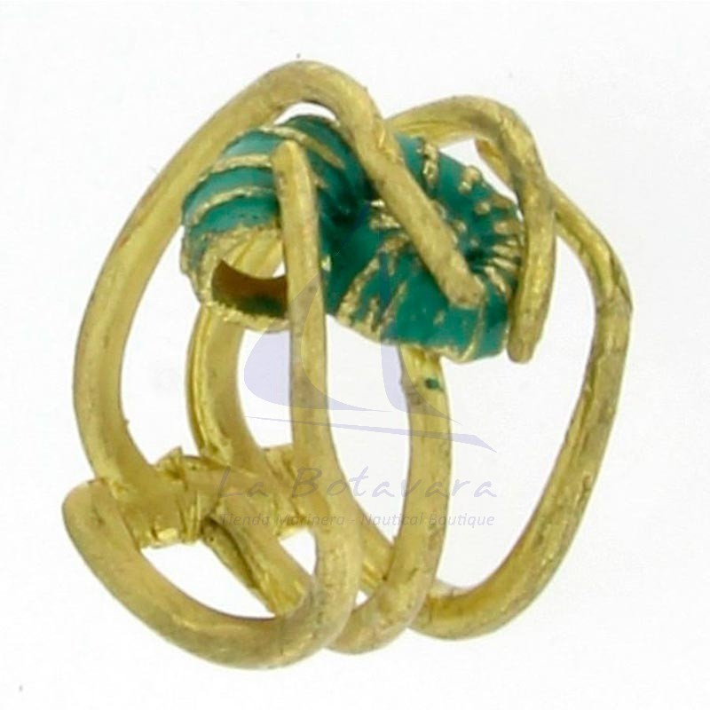 Brass ring with shell 4
