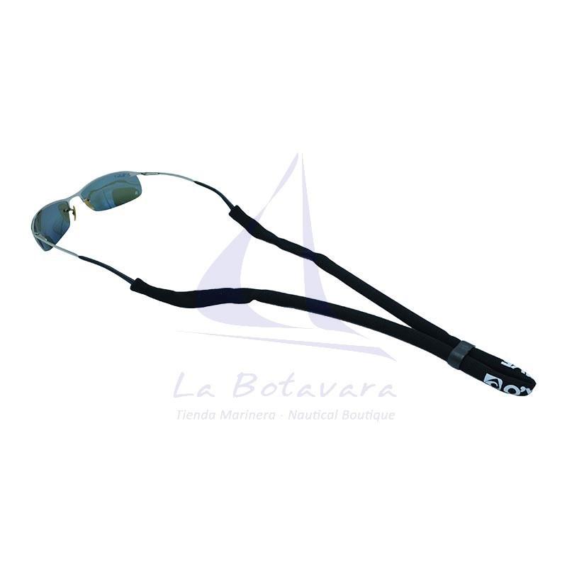 Black O'Wave glassfloat eyewear retainer