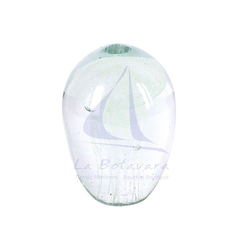 White jellyfish glass paperweight