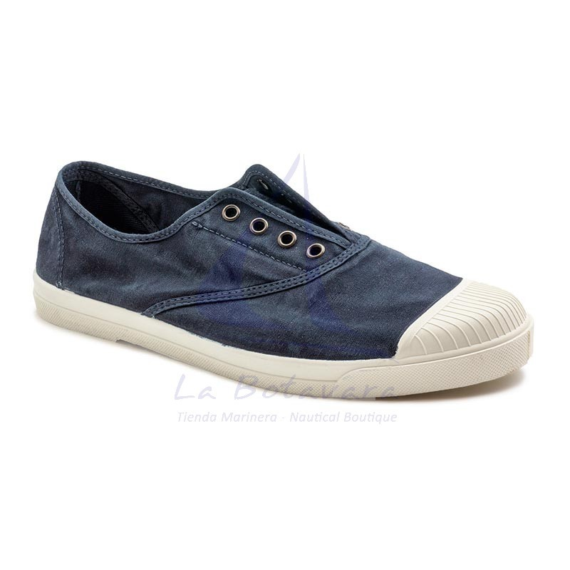 Navy blue Natural World ecological sneakers for man