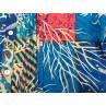 Vestido Colori di Mare de playa con cuadros azul 2