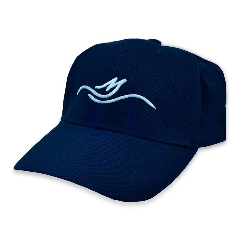 Gorra flotante de algodón azul marino