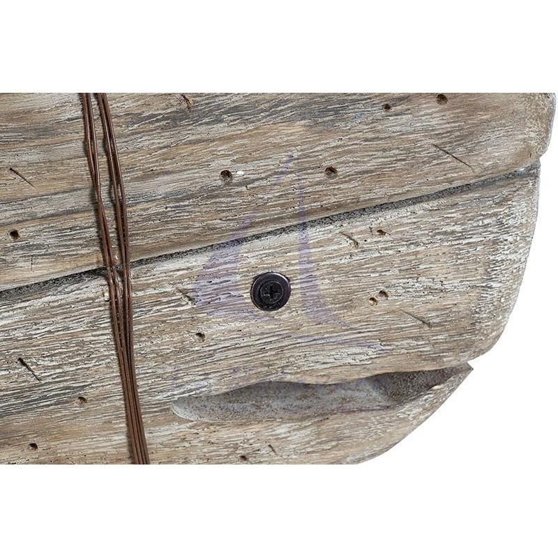 Cachalote de madera envejecida de 55cm 2