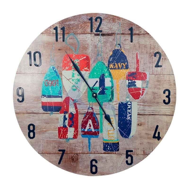 Fishing buoys wall clock