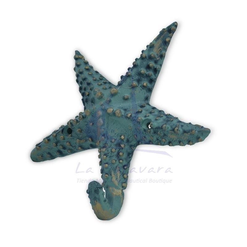 Percha estrella de mar verde de fundicion 2