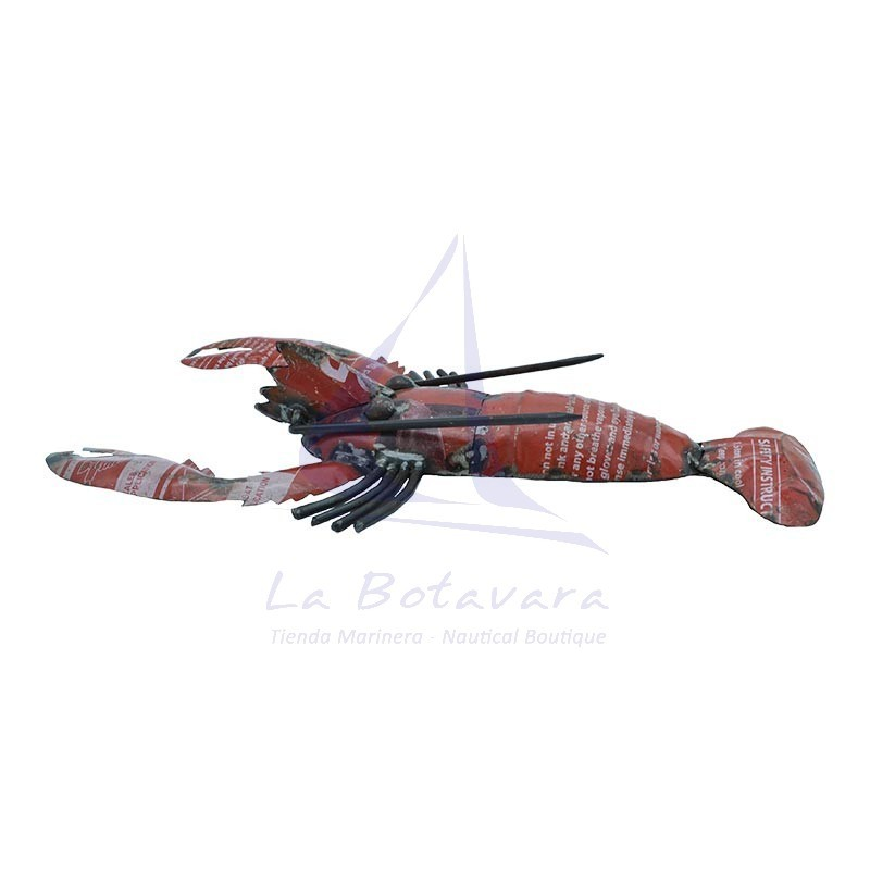 Lobster made of sheet metal from recycled drums 2