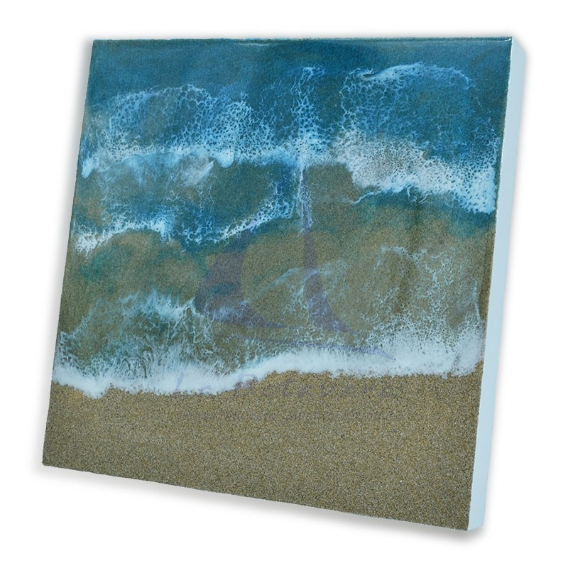 30x30cm resin marine painting
