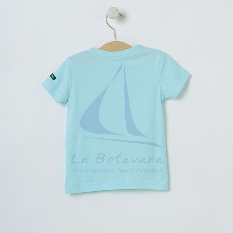 Camiseta Batela de bebe con ancla celeste 3