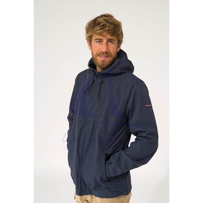 Navy blue Batela waterproof men's raincoat with heat-sealed seams 2