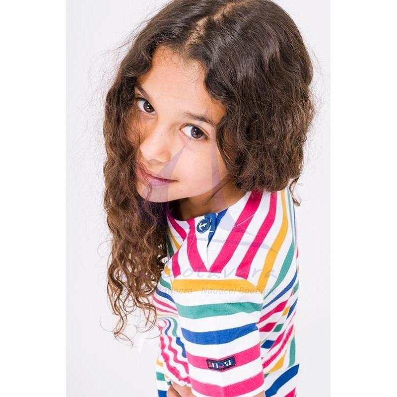 Vestido Batela de niña de manga corta a rayas 3