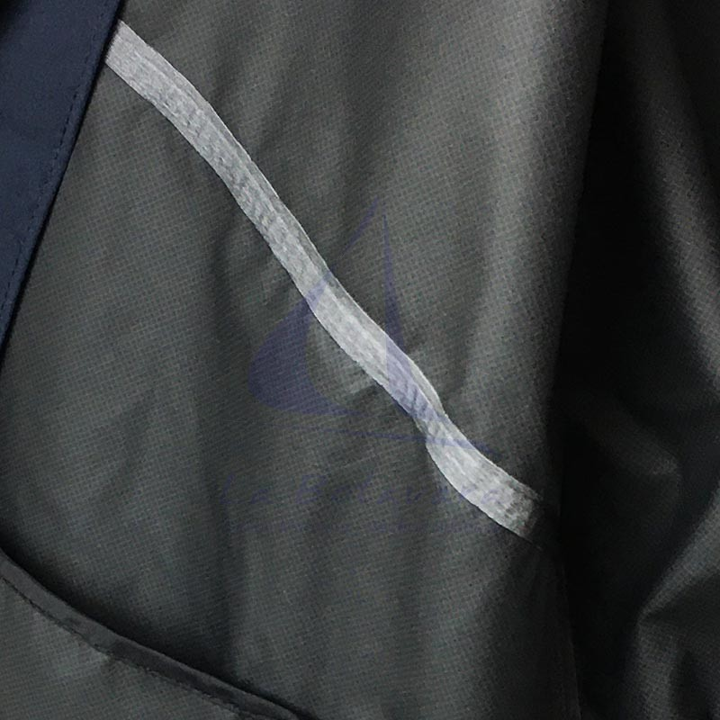 Navy blue Batela waterproof men's raincoat with heat-sealed seams 4