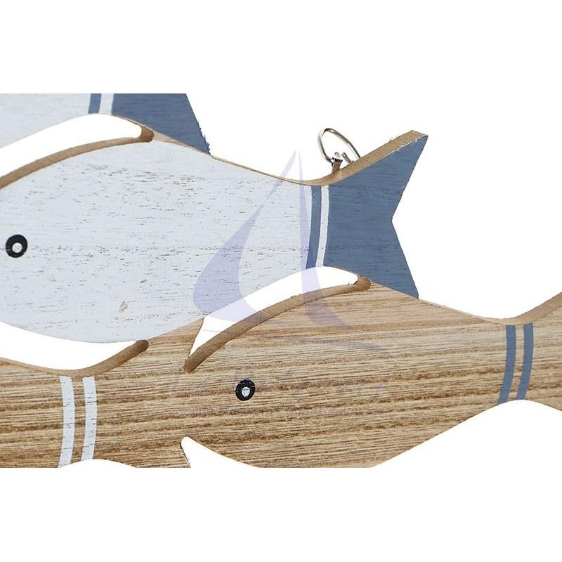 Perchero con peces de madera 4