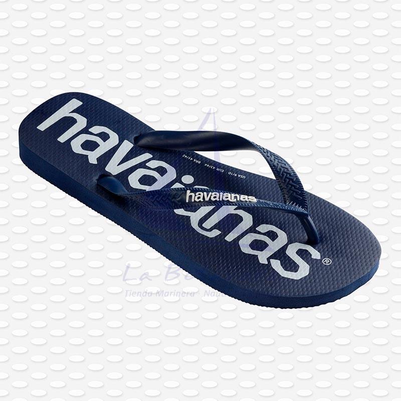 Navy blue Havaianas Logomania flip flops 3