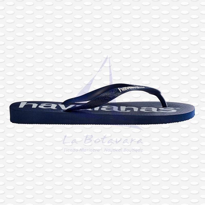 Navy blue Havaianas Logomania flip flops 4