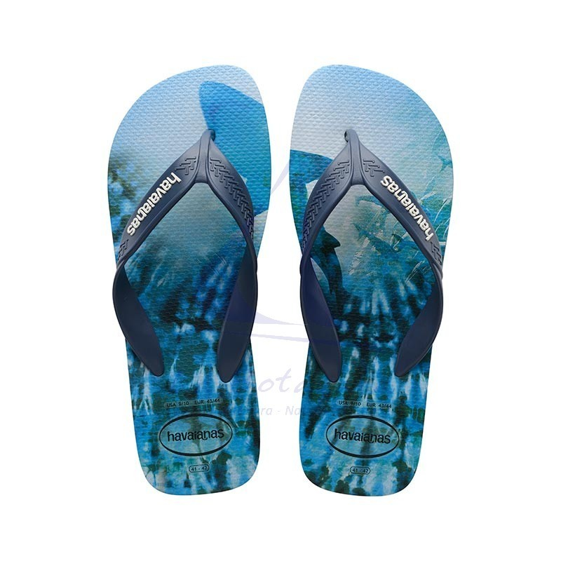 Indigo blue Havaianas surf flip flops