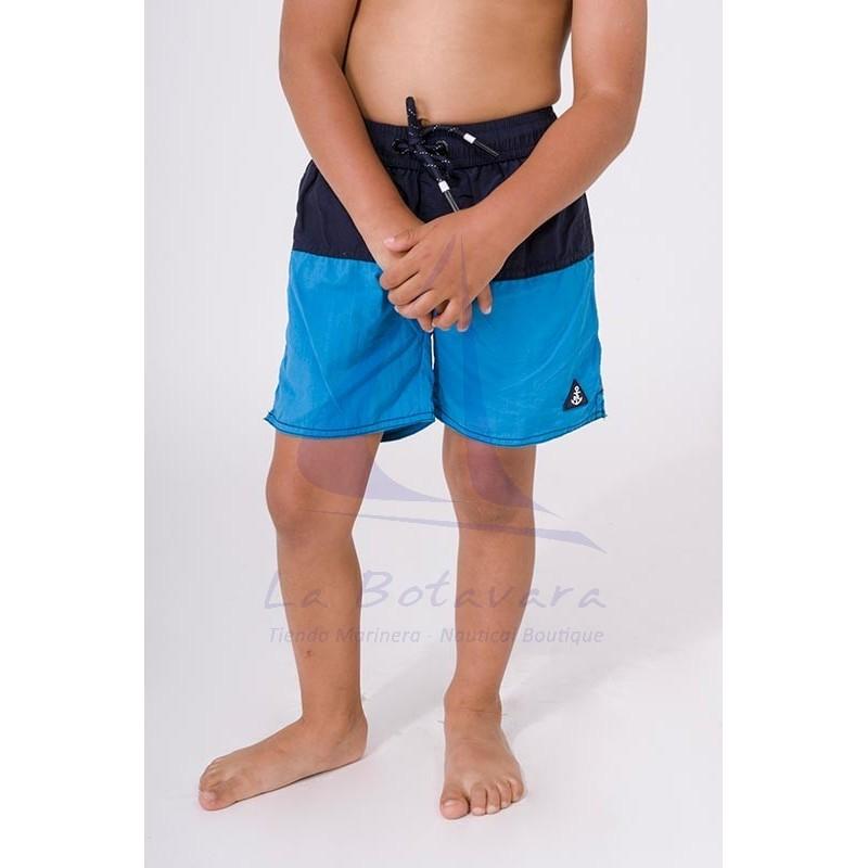 Bañador Batela de niño bicolor azul marino y océano