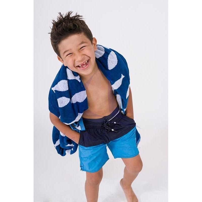 Navy blue & ocean blue Batela boy's swimsuit 3