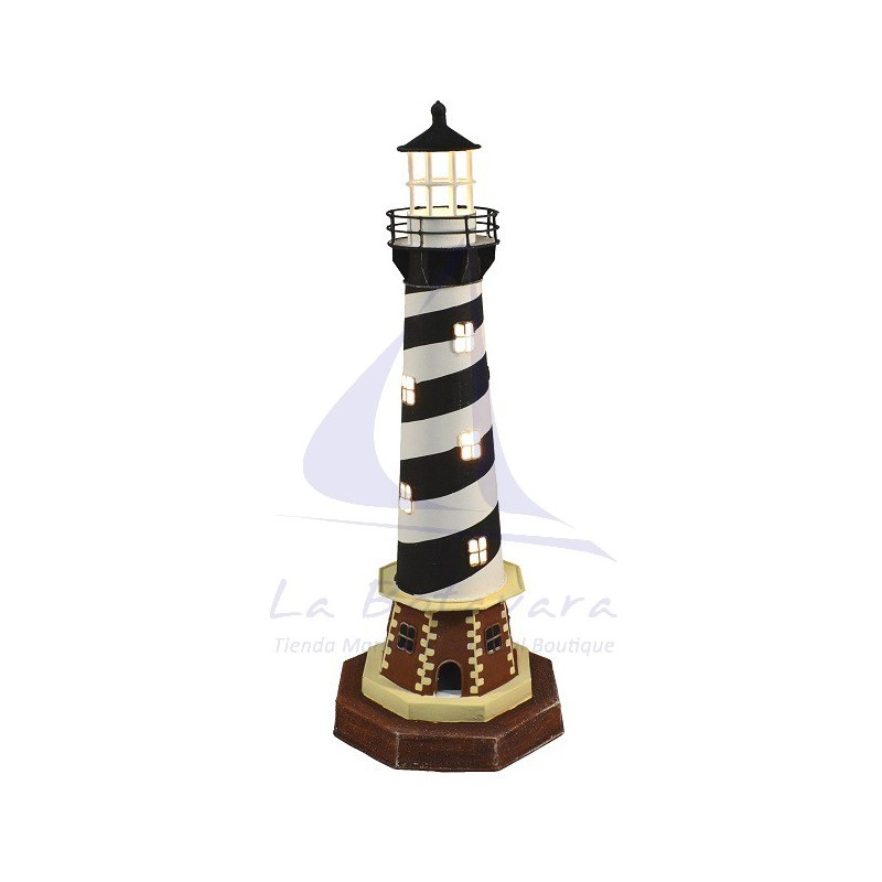 CAPE HATTERAS LIGHTHOUSE ELECTRIC LAMP 44CM