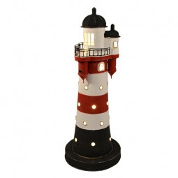 43CM ROTER SAND LIGHTHOUSE ELECTRIC LAMP