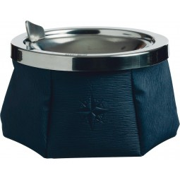 NAVY BLUE ASHTRAY WITH LID