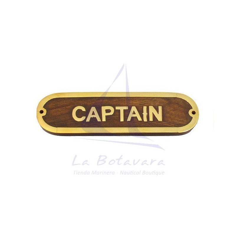 CAPTAIN BRASS PLATE