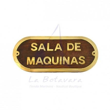 PLACA DE LATÓN SALA DE MAQUINAS