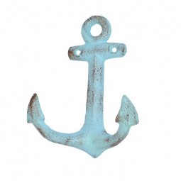 BLUE ANCHOR HANGER FOR NAUTICAL DECOR