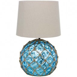 BLUE GLASS BUOY LAMP